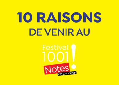 10 raisons de venir au Festival 1001 Notes édition 2021
